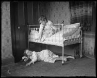 Bedtime, Grace and Willie Stonebridge playing,  Bronx, N.Y., undated [c. 1900?].