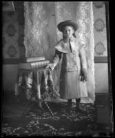 Grace Stonebridge in a coat with the hood down, Bronx, N.Y., undated [c. 1900?].