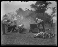 Camp cooking, Orchard Beach, Bronx, N.Y., 1911.