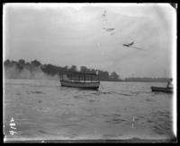 Motor launch, Orchard Beach, Bronx, N.Y., 1907.