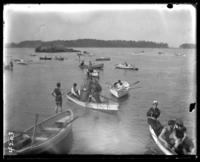 Rowboats on the bay, Orchard Beach, Bronx, N.Y., 1907.