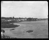 Beach and campsites, Orchard Beach, Bronx, N.Y., 1908.