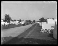 Campsites, Orchard Beach, Bronx, N.Y., 1910.