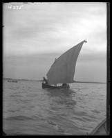 Sailboat, Orchard Beach, Bronx, N.Y., 1910.
