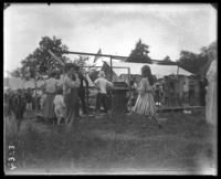 Camp Lulu under construction, Orchard Beach, Bronx, N.Y., 1907.