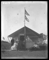 Unidentified campsite, Labor Day, Orchard Beach, Bronx, N.Y., September 5, 1910.