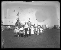 Labor Day festivities in camp, Orchard Beach, Bronx, N.Y., September 5, 1910.