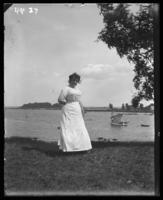 Labor Day, unidentified woman at the water's edge, Orchard Beach, Bronx, N.Y., September 5, 1910.