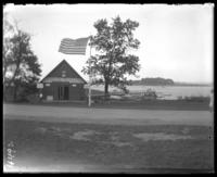 Pelham Bay Sightseeing Yachts office and dock, Orchard Beach, Bronx, N.Y., 1915.