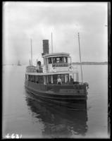 Boat 'Rikers Island,' near Hart Island, Bronx, N.Y., July 12, 1913.