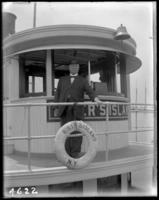Captain of the 'Rikers Island,' near Hart Island, Bronx, N.Y., July 12, 1913.