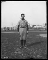 A member of the Suburban Baseball Team, Bronx, N.Y., undated [c. 1897-1918].