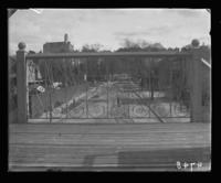 Scrollwork on the railings of a New York Central Railroad station, Bronx, N.Y., 1903.