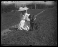 Daisy and a dog, Garrison, N.Y., 1905.