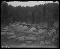 7th Regiment men firing rifles, State Camp (Camp Smith), Peekskill, N.Y., June 16, 1905.