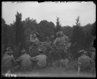 7th Regiment men at ease with refreshments, State Camp (Camp Smith), Peekskill, N.Y., June 16, 1905.