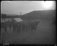 12th Regiment men on parade, State Camp (Camp Smith), Peekskill, N.Y., June 29, 1906.