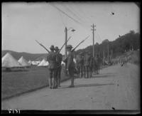 12th Regiment men changing the guard, State Camp (Camp Smith), Peekskill, N.Y., June 29, 1906.