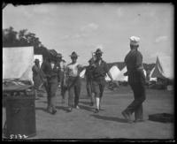 12th Regiment men initiating a new recruit, State Camp (Camp Smith), Peekskill, N.Y., June 29, 1906.