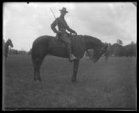 Unidentified 22nd Battalion officer on horseback, State Camp (Camp Smith), Peekskill, N.Y., June 13, 1903.