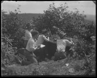 Second Battery men in a foxhole [?], State Camp (Camp Smith), Peekskill, N.Y., September 5-7, 1903.