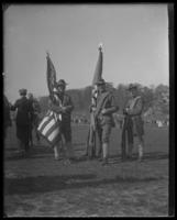 Carrying the flags, State Camp (Camp Smith), Peekskill, N.Y., undated [1907?].