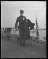 Captain [?] of the 'Fulton Market' during an excursion with the  North Side Board of Trade and the Congressional Rivers & Harbors Committee, New York City, May 5 or 6, 1903.