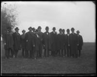 Unidentified officials [probably the Committee on Rivers and Harbors] during the Congressional Rivers & Harbors Committee visit to New York City, May 5 or 6, 1903.