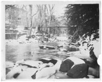 Wood bridge in snow, Bronx Park, Bronx, N.Y., 1903.