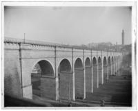 View of High Bridge, the Harlem River, and High Bridge Tower, New York City, N. Y., undated [c. 1900].