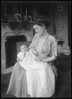 Portrait of an unidentified woman holding a baby, undated (ca. 1911).