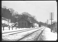 Inwood train station in winter, New York City, undated (ca. 1911-1921).