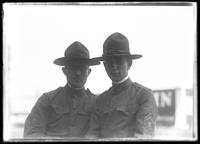 Frank Rogers Hassler (right) and unidentified companion, in army uniform, August 12, 1917