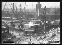 Dock construction, Brooklyn, undated (ca. August 1917). Photographed for the Robbins Ripley Company.