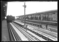 167th Street elevated subway station, Bronx, undated [ca. August 1918]. Probably photographed for the Interborough Rapid Transit Company.