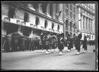 Elephants performing in a parade for United War Works, New York City, undated [ca. November 1918].