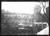 Circus high-dive ladder and tank in Bryant Park, New York City, undated [ca. November 1918].