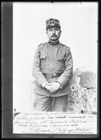 Copy photo of an Italian soldier, dated November 5, 1918. Photographed for the Evangelistic Committee of New York City.