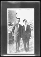 Copy photo of two unidentified young men. Photographed April 15, 1919 for the Evangelistic Committee of New York City.