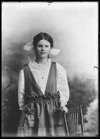 Copy photo of an unidentified young girl, undated [ca. 1919]. Photographed for Frank Matthews.