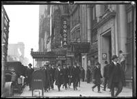 Sign for Sonora (possibly Sonora Phonographs?), W. 42nd Street, New York City, undated [ca. April 1919]. Photographed for Lawrence L. Strauss.