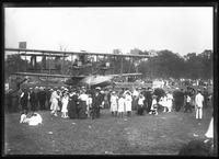 Crowd gathered around a Curtiss NC-4 flying boat in Central Park, New York City, July 13, 1919. Photographed for NCH.