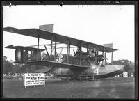 Military seaplane Curtiss NC-4 flying boat displayed in Central Park, New York City, July 13, 1919. Photographed for NCH.