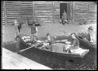 Chef and family in boat, New Jersey, undated [ca. 1919].