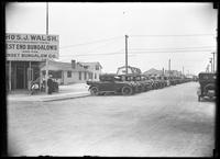 Beach bungalow development, Long Beach, N.Y., August 10, 1919. Sign for agent Thomas J. Walsh, West End Bungalows and the Sunset Bungalow Company.