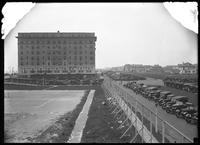 Hotel Nassau, parking lot, and tennis courts, Long Beach, N.Y., August 10, 1919.