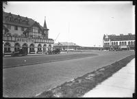 Hotel Lafayette and the Long Beach train station, Long Beach, N.Y., August 10, 1919.