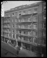 Unidentified apartment building 'Pietro Guardino,' New York City [?], undated [ca. 1915-1916].