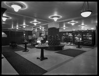 Interior unidentified lamp showroom (possibly a United Electric Light & Power Company store), undated (ca. 1914-1921).