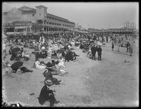 Bathers at Brighton Beach, Brooklyn, probably August 3, 1912.